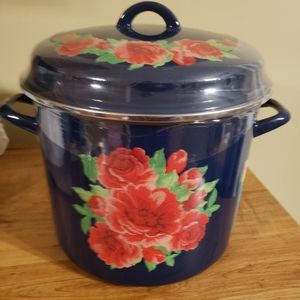 Pioneer Woman Frontier Rose 12qt stock pot